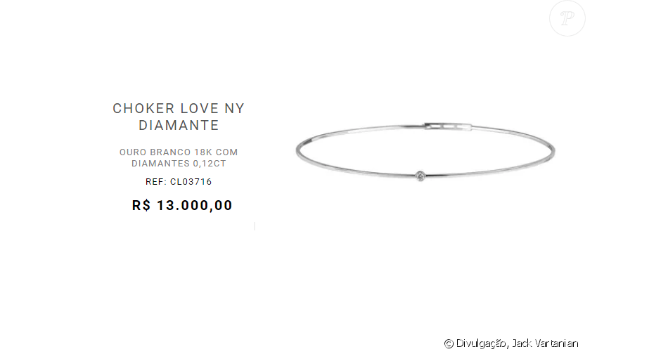 Choker usada por Grazi Massafera em evento de moda é da marca Jack Vartanian e custa R$ 13 mil