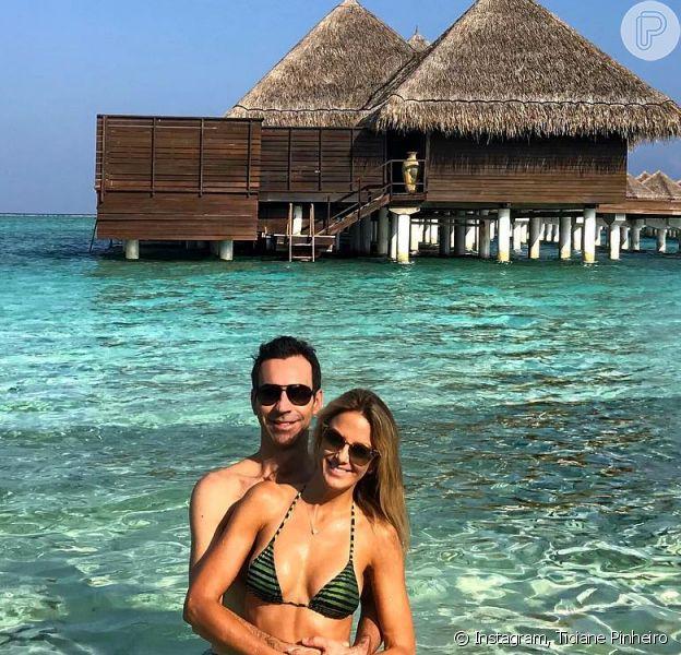 Ticiane Pinheiro e Cesar Tralli curtem lua de mel noTaj Exotica Resort & Spa, nas Ilhas Maldivas
