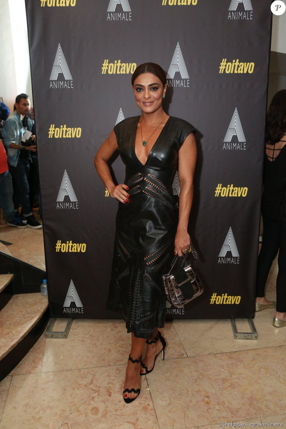 Juliana Paes chamou atenção com seu bronzeado no lançamento do fashion film 'Oitavo', no Rio, na quarta-feira, 6 de dezembro de 2017