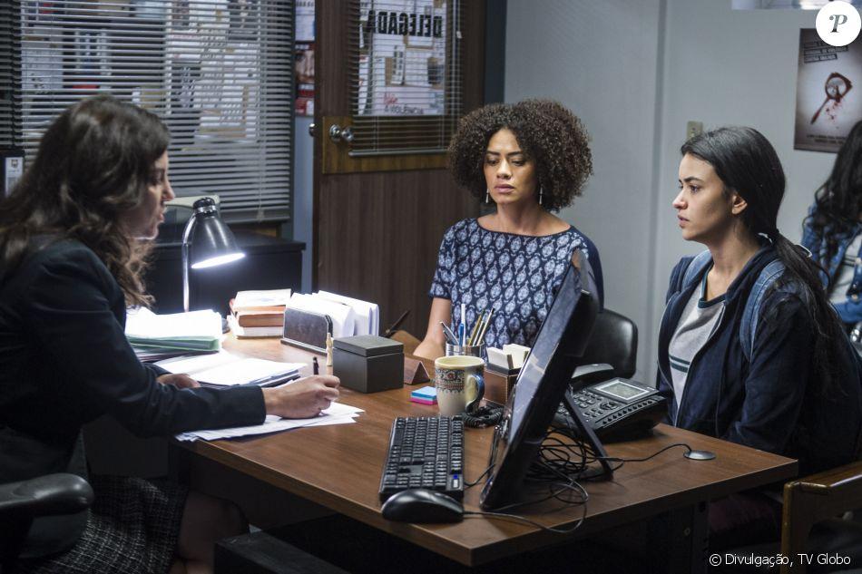 Na novela 'Malhação', K1 (Talita Younan) foi até a delegacia com Dóris (Ana Flávia Cavalcanti) denunciar o padrasto contra assédio
