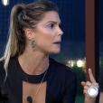 'Está para nascer marmanjo que vai me desrespeitar', diz Flávia para Marcos em briga, que aconteceu em 27 de novembro de 2017