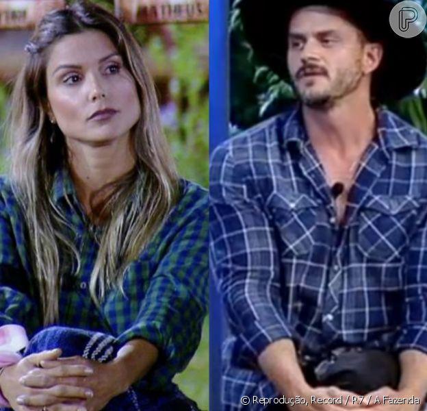 Marcos Härter e Flávia Viana chegam à final de 'A Fazenda'. Relembre as brigas e trocas de farpas entre os peões