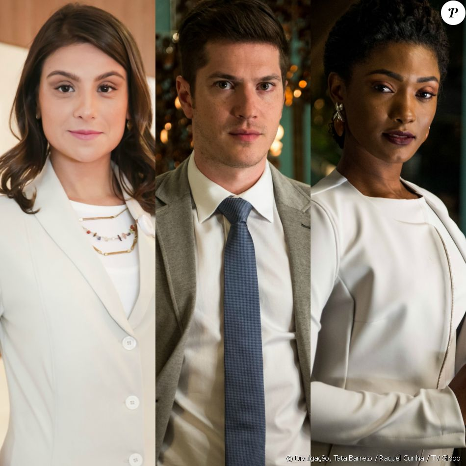 Bruno (Caio Paduan) pede o divórcio a Tônia (Patrícia Elizardo) para poder namorar Raquel (Erika Januza), na novela 'O Outro Lado do Paraíso'