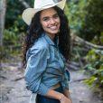Giovana Cordeiro está no ar na novela 'O Outro Lado do Paraíso' como a jovem Cleo, neta de Mercedes (Fernanda Montenegro)