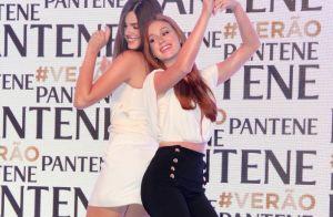 Marina Ruy Barbosa e Camila Queiroz dançam juntas para lançar produto de beleza