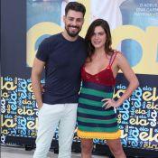 Mariana Goldfarb posa com Cauã Reymond e fãs apontam: 'Carinha de grávida'