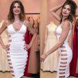 Luciana Gimenez ousa em vestido com recortes laterais em lançamento de loja em São Paulo