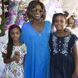 As filhas de Gloria Maria, Laura e Maria, tiveram uma festa com tema de unicórnios