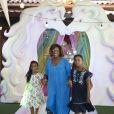 Filhas de Gloria Maria, Maria completou 9 anos e Laura, 8