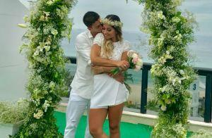 Mayra Cardi exibe tatuagem com nome de Arthur Aguiar em casamento. Vídeo!