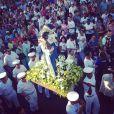 Bianca Comparato publica foto de procissão em homenagem à Irmã Dulce, na Bahia