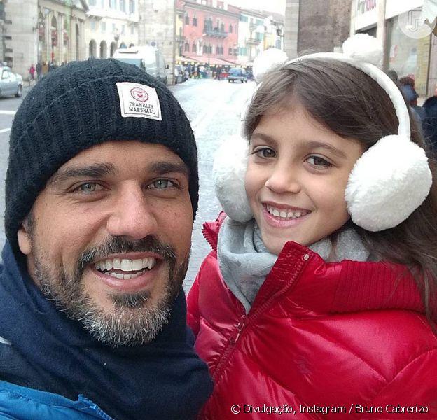 Bruno Cabrerizo homenageou a filha, Gaia, que completa 7 anos nesta quinta-feira, dia 28 de dezembro de 2017