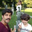 Bruno Cabrerizo é pai dos italianos Gaia, de 7 anos, e Elia, de 4 anos,