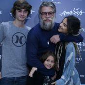 Com filhos, Fabio Assunção leva Pally Siqueira ao Cirque Du Soleil. Veja fotos!