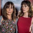Duda (Gloria Pires) pede que Clara (Bianca Bin) a proteja de Natanael (Juca de Oliveira) e a milionária garante: 'Esse homem não entra mais aqui. Fica tranquila, querida', na novela 'O Outro Lado do Paraíso'