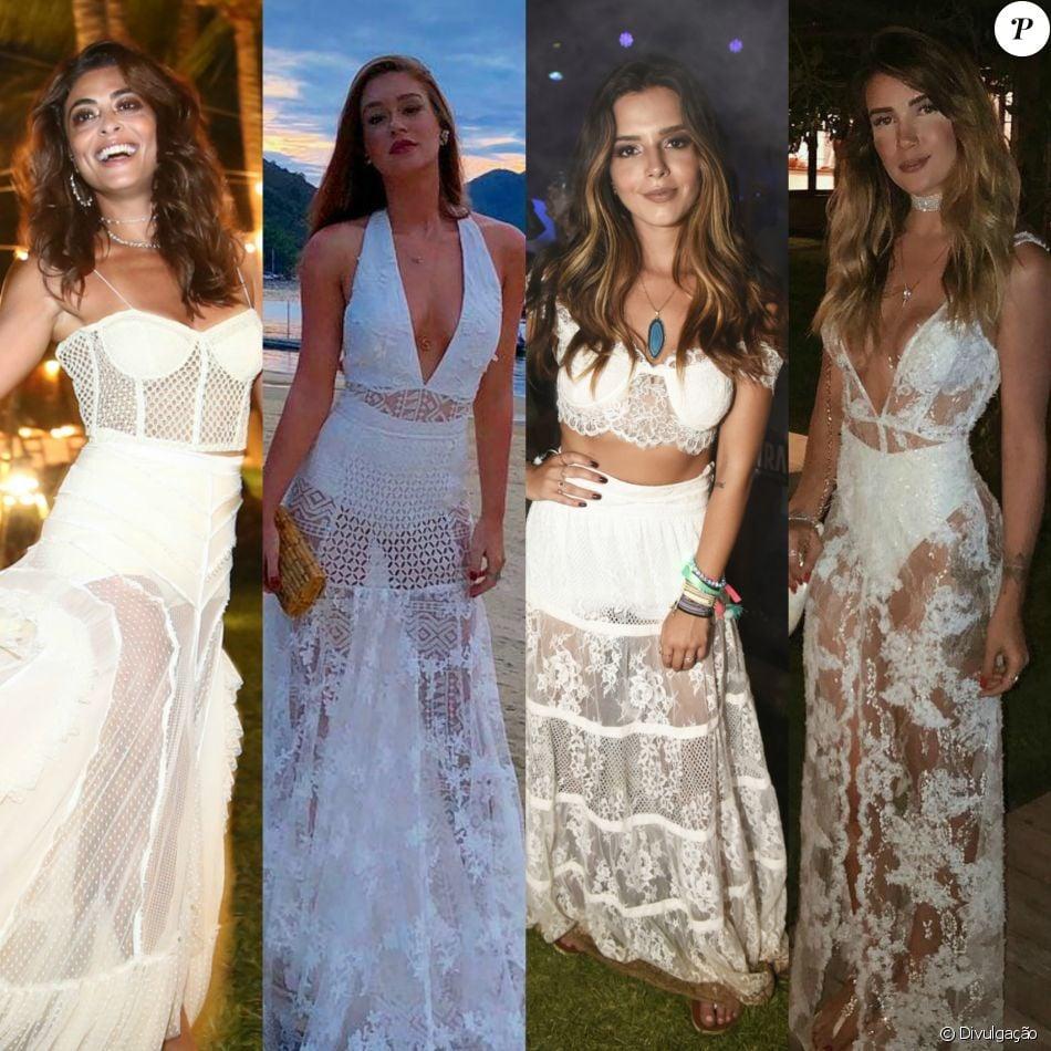 Vestido de renda das famosas 2018