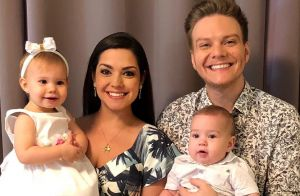Michel Teló e Thais Fersoza celebram 2018 com filhos, Melinda e Teodoro: 'União'