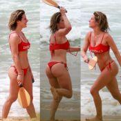 Giovanna Ewbank mostra bumbum sarado ao jogar frescobol em Noronha. Fotos!