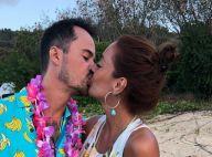 Paulo Vilhena beija namorada ao comemorar aniversário com luau em Noronha. Fotos