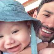 Gusttavo Lima brinca com o filho ao se despedir do Ceará: 'Lugar deixa saudade'