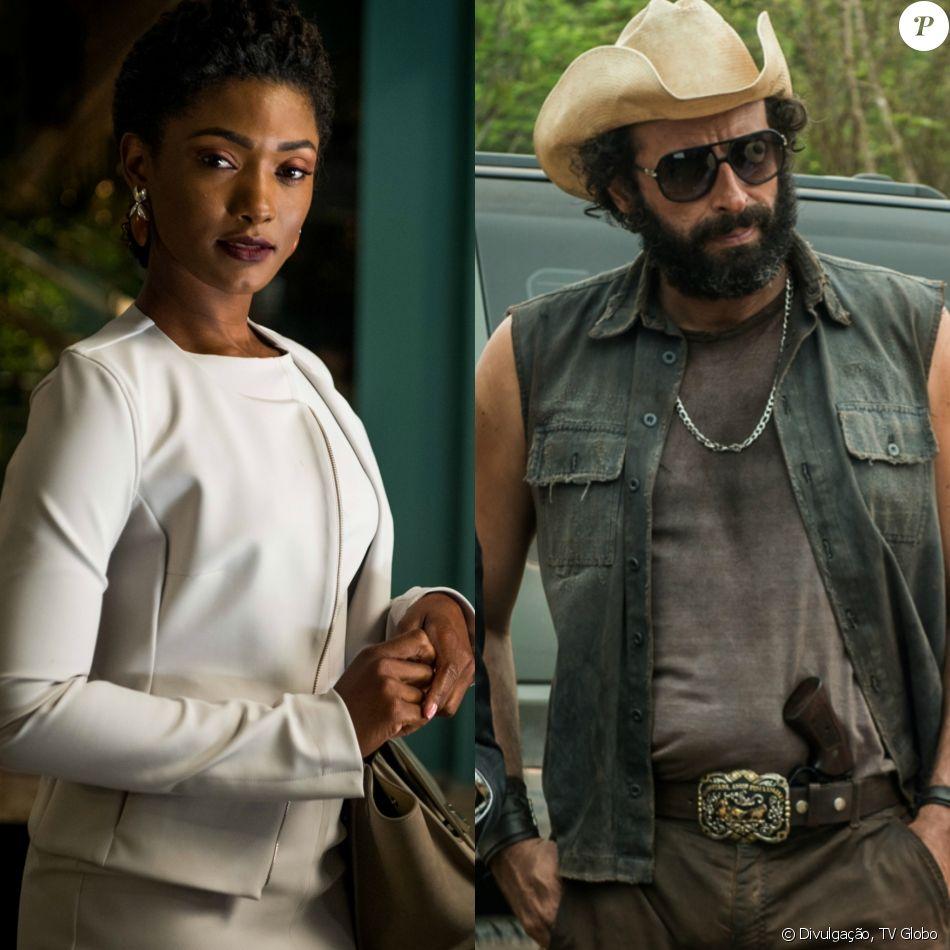 Raquel (Erika Januza) é atropelada por Rato (Cesar Ferrario) na frente de Bruno (Caio Paduan), na novela 'O Outro Lado do Paraíso'