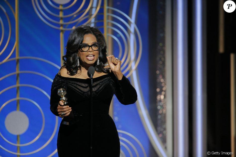 Oprah Winfrey recebeu o prêmio Cecil B. DeMille, pelo conjunto da obra, no Globo de Ouro 2018, no domingo, 7 de janeiro de 2018