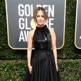 Sarah Paulson de  Calvin Klein by Appointment   na 75ª edição do Globo de Ouro, realizado no hotel The Beverly Hilton, na Califórnia, neste domingo, 7 de janeiro de 2018