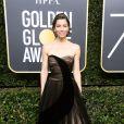 Jessica Biel usou tomara que caia  Christian Dior, coleção primavera 2017,   na 75ª edição do Globo de Ouro, realizado no hotel The Beverly Hilton, na Califórnia, neste domingo, 7 de janeiro de 2018