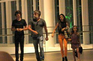 Fabio Assunção leva filhos e Pally Siqueira para jantar em shopping. Veja fotos!