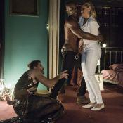 'O Outro Lado do Paraíso': em flagra, Suzy tenta agredir Samuel e Cido a segura