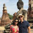 Flávia Alessandra e Otaviano Costa estão casados há 10 anos e gostam de renovar votos da relação