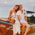 Flávia Alessandra e Otaviano Costa casam de novo na Tailândia como mostraram em foto postada nesta quarta-feira, dia 10 de janeiro de 2018