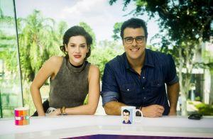 Joaquim Lopes se despede de 'Vídeo Show' e chora com Sophia Abrahão:'Fui feliz'