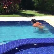 Grávida, Ivete Sangalo troca treinos por natação: '1000 metros todo dia'