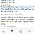 Neymar negou mal-estar entre sua família e a namorada, Bruna Marquezine