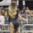 Carnaval 2018 terá Fernanda Lacerda desfilando na Gaviões da Fiel. A 'Mendigata' ensaiou com a escola na madrugda deste domingo, 14 de janeiro de 2018