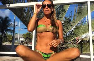 Adriane Galisteu rebate críticas sobre magreza: 'Corpo de antes da gravidez'