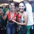 Juliana Paes substituiu Paloma Bernardi no posto de rainha de bateria