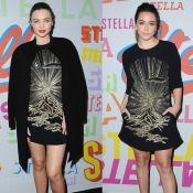 Miranda Kerr e Chloe Bennet usam vestidos iguais no mesmo evento. Veja looks!
