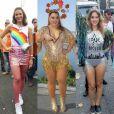 Famosas como Bruna Marquezine, Preta Gil e Leandra Leal capricharam nos looks para o Carnaval do ano passado. Inspire-se!