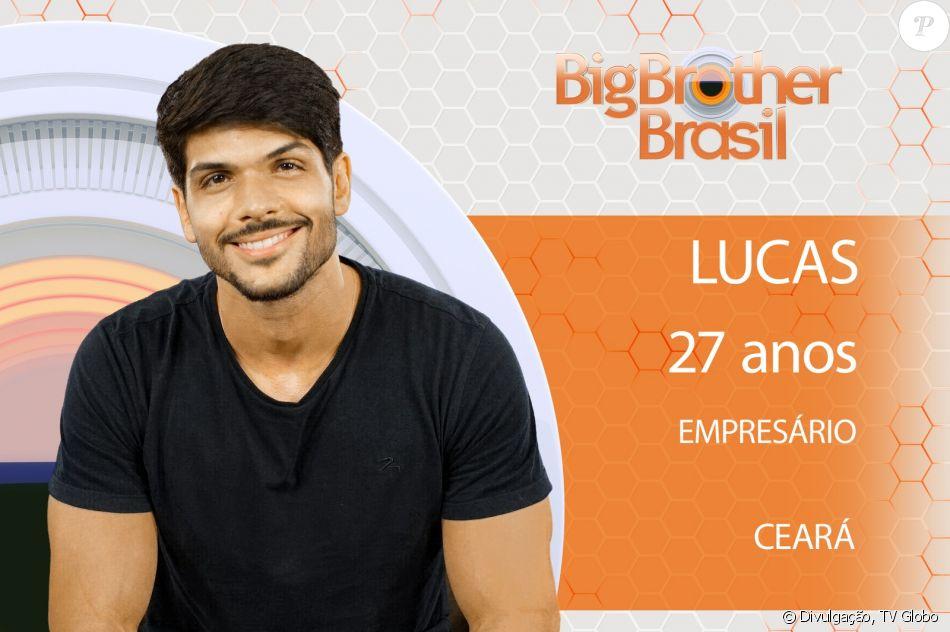 Lucas, de 27 anos, entra no 'BBB18' com uma noiva, Ana Lucia, com quem tem um relacionamento de 5 anos