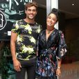 Aline Riscado e Felipe Roque prestigiam a banda Fuze em show realizado no  Hotel Grande Mercure, localizado no Recreio dos Bandeirantes, Zona Oeste do Rio de Janeiro, na noite desta quinta-feira, 17 de janeiro de 2018