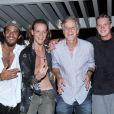 Pedro e Diogo, filhos de Marcello Novaes lançam a banda Fuze em show realizado no  Hotel Grande Mercure, localizado no Recreio dos Bandeirantes, Zona Oeste do Rio de Janeiro, na noite desta quinta-feira, 17 de janeiro de 2018