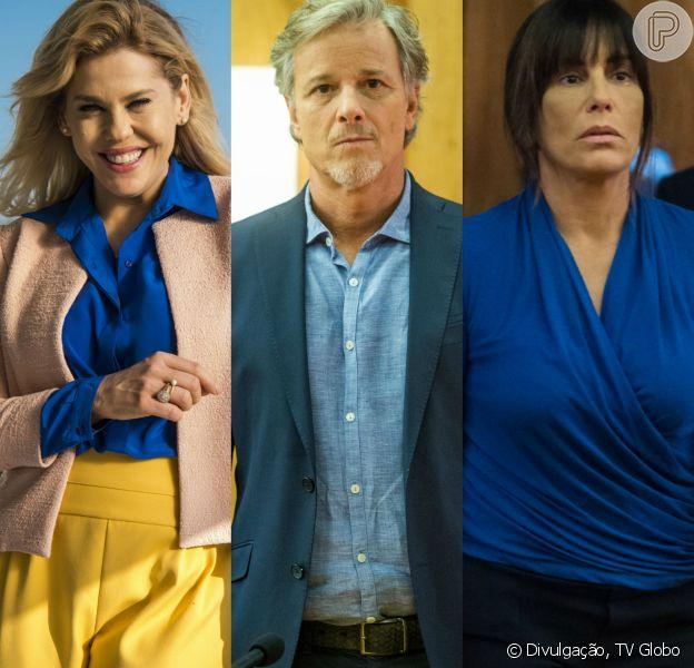 Jô (Barbara Paz) oferece dinheiro para Renan (Marcello Novaes) namorar Duda/Elizabete (Gloria Pires) e afastá-la de Henrique (Emílio de Mello), na novela 'O Outro Lado do Paraíso'