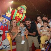 Tainá Müller e Rafa Brites se divertem com os filhos Martin e Rocco no circo