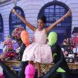 Luiza, filha de Rafael Zulu, se divertiu em sua festa de 11 anos, no Beach Club, na Ilha da Coroa, na Barra da Tijuca, Zona Oeste do Rio