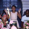 Luiza é filha de Rafael Zulu e comemorou seus 11 anos com festa neste domingo, 21 de janeiro de 2018, no Beach Club, na Ilha da Coroa, na Barra da Tijuca, Zona Oeste do Rio