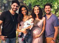 Aline Dias paparica Débora Nascimento em chá de bebê da atriz: 'Família linda'
