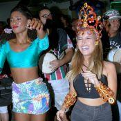Erika Januza, Thaila Ayala e Carla Diaz se encontram em ensaio de carnaval