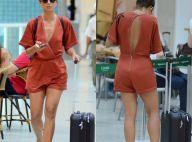 Estilo verão: Camila Pitanga elege macaquinho superdecotado para viajar. Fotos!